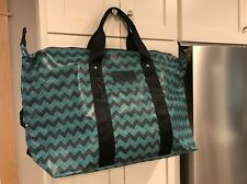 JACK SPADE Large Beach / Tote Bag /Travel Turquoise blue and black