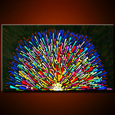 LARGE ORIGINAL ABSTRACT OIL PAINTING modern LOVE CANVAS ART home wall decor XXL