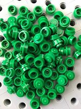 Lego Green 1X1 Round Dot Plates Bricks Dots Stud Caps New Lot Of 100