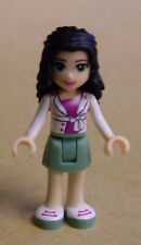 Lego Friends Figur - Emma (white Jacket, green skirt, Mädchen) Neu