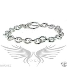 "Ladies Beautiful Silver Plated Chain Style No Stone 7"" Tennis Bracelet LOA537"