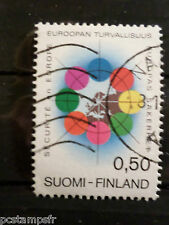 FINLANDE FINLAND, 1973, timbre 679, SECURITE EUROPE, oblitéré, VF used stamp