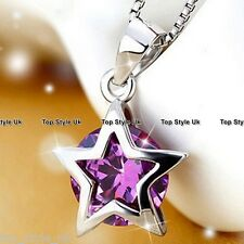 925 Sterling Silver Necklace And Wishing Star Pendant Lucky Gift for Best Friend