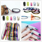 Personality Mixed Color Rolls Striping Tape Line DIY Art Tips Decoration Sticker