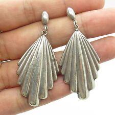 Vtg 925 Sterling Silver Large Long Dangling Chandelier Earrings