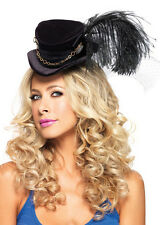 Victorian Steampunk Black Mini Top Hat