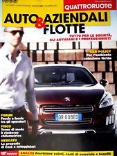 Auto Aziendali & Flotte Alleg. Quattror. 687 2012: tutto per le società [Q80]