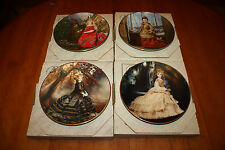 4 The Doll Collection French Fashion Dolls Mildred Seeley Collector Plates 1985