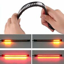 "8"" Flexible 32 LED Motorcycle Strip Light Rear Tail Turn Signal Brake Stop Lamp"