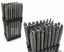32Pc Extra Long Security Bit Set Tamper Proof Torx Star Tri Wing Pozi w/ Holder