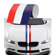1M*15cm Reflective France Flag Stripe Car Body Sticker Decal For Citroen Peugeot