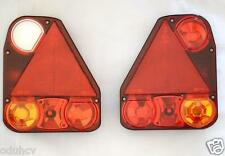 Pair (2x)  Rear Tail Lights Motorhome Caravan Trailer Chassis for DAF Scania MAN