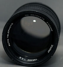 M42 VIVITAR AUTO TELEPHOTO 135mm SCREW Mount Yashica Pentax Zenit Lens CLEAN
