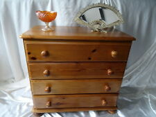 Antique Pine Victorian 4 Drawer Chest Of Drawers Ladies Bedroom