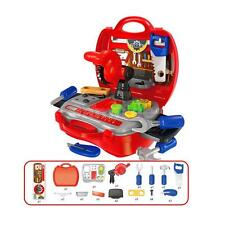 Children Kids Repair Tools Toy Set Pretend Play Tool Kit with Red Suitcase