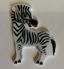 Flat Back Resins (Lot of 2 for $1.50) Cute Zebra Wild Animal Zoo Striped Equine