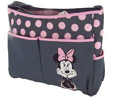 Disney Minnie Mouse Baby Girl Polka Dots Nappy Bottle Diaper Travel Beach Bag GY