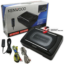 KENWOOD CAR UNDER SEAT SUPER SLIM POWERED SUBWOOFER ALUMINUM ENCLOSED