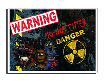 WARNING DO NOT ENTER THE CREW FIVE NIGHTS OF FREDDY DOOR SIGN FREE UK DELIVERY