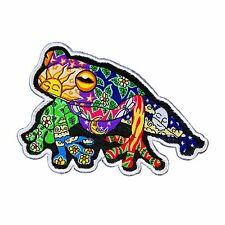 Dan Morris Psychedelic Tree Frog Patch Animal Art Craft Apparel Iron-On Applique