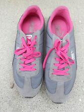 PUMA Running Shoes SPEEDER Womens 10 Gray Pink Sweet Casual Style Run Faster Sle