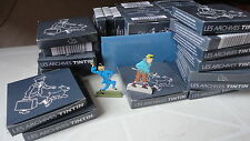 LOT DE 36 FIGURINES PERSONNAGES ARCHIVES TINTIN EN METAL