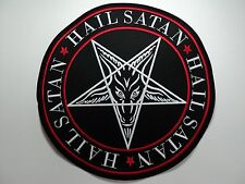 BAPHOMET  HAIL SATAN EMBROIDERED BACK PATCH