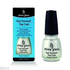 China Glaze FAST FORWARD TOP COAT  DRY FAST TOP COAT DRIES IN SECONDS   .5 OZ.