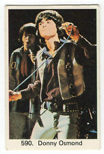 1970s Swedish Pop Star Card #590 American teen heartthrob singer Donny Osmond
