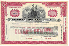 "American Capital Corporation.""Specimen"" Stock Certificate"