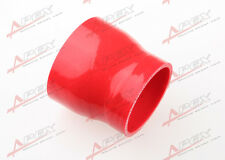 "3ply 3"" to 2.5'' inch Straight reducer 76.2mm SILICONE HOSE COUPLER PIPE RED"