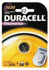 2 Batterie CR2032 DURACELL pulsante Litio 3V CR2032 DLC 2024