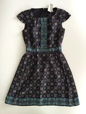 $188 NWT JCrew Womens 0 Silk Dress Mirrod Floral WOMENS XS Black E9767