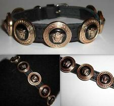 VERSACE GOLD MEDUSA HEAD DESIGNER PUPPY/SMALL DOG/CAT COLLAR-BRAND NEW BLING