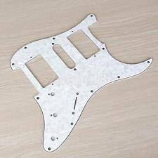 Pickguard Scratch Plate for China Strat electric guitar PEARL White 3Ply HSH