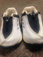 authentic EVERLAST ZIP UP SNEAKERS TENNIS SHOES WHITE GRAY BLUE BOY'S 2 WEEKS