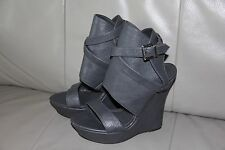Kendall & Kylie Shoes High Heels Ankle Open Gray Boots Platform Wedges Size 10