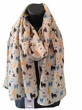 Ladies Women Girls Beautiful RSPCA Cat Design 100% Cotton Scarf Wrap Shawl