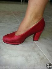 Red high heels snakeskin-like scale 36 As news from the Holy Land amazing happy