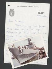 HMS Amazon. Letter & Photograph  qq40