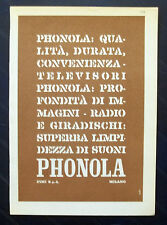 B926-Advertising Pubblicità-1959 - PHONOLA