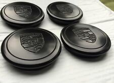 NEW PORSCHE 911 930  944  WHEEL CENTER CAPS BLACK FUCHS 911 361 032 28 SET OF 4