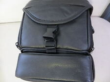 Black Leather Shoulder Camera bag for SLR for Canon Nikon Sony Fujifilm Kodak