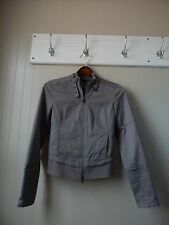 ARMANI EXCHANGE GRAY LONG SLEEVE ZIP UP COTTON JACKET SIZE XS