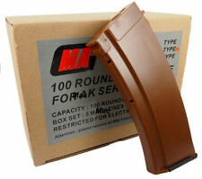 New MAG 100round Magazine for AK-74 Airsoft AEG Plasctic Bakelite (5pcs boxset)