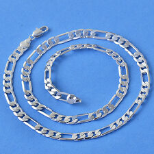 """19.7"""" COOL 9K REAL WHITE GOLD FILLED MENS CHAIN NECKLACE NEW F6270"""