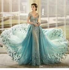 New Vintage Formal Evening Dress Celebrity Cocktail Party Prom Wedding Gown Long
