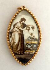 A Magnificent Georgian Mourning Pendant Circa 1790's