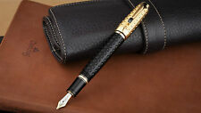 New Mont Blanc Black/Golden Fountain Pen 3665 - Imported