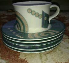 "6 pc Mikasa Intaglio Life Style Cup and (5) 6.5"" plates"